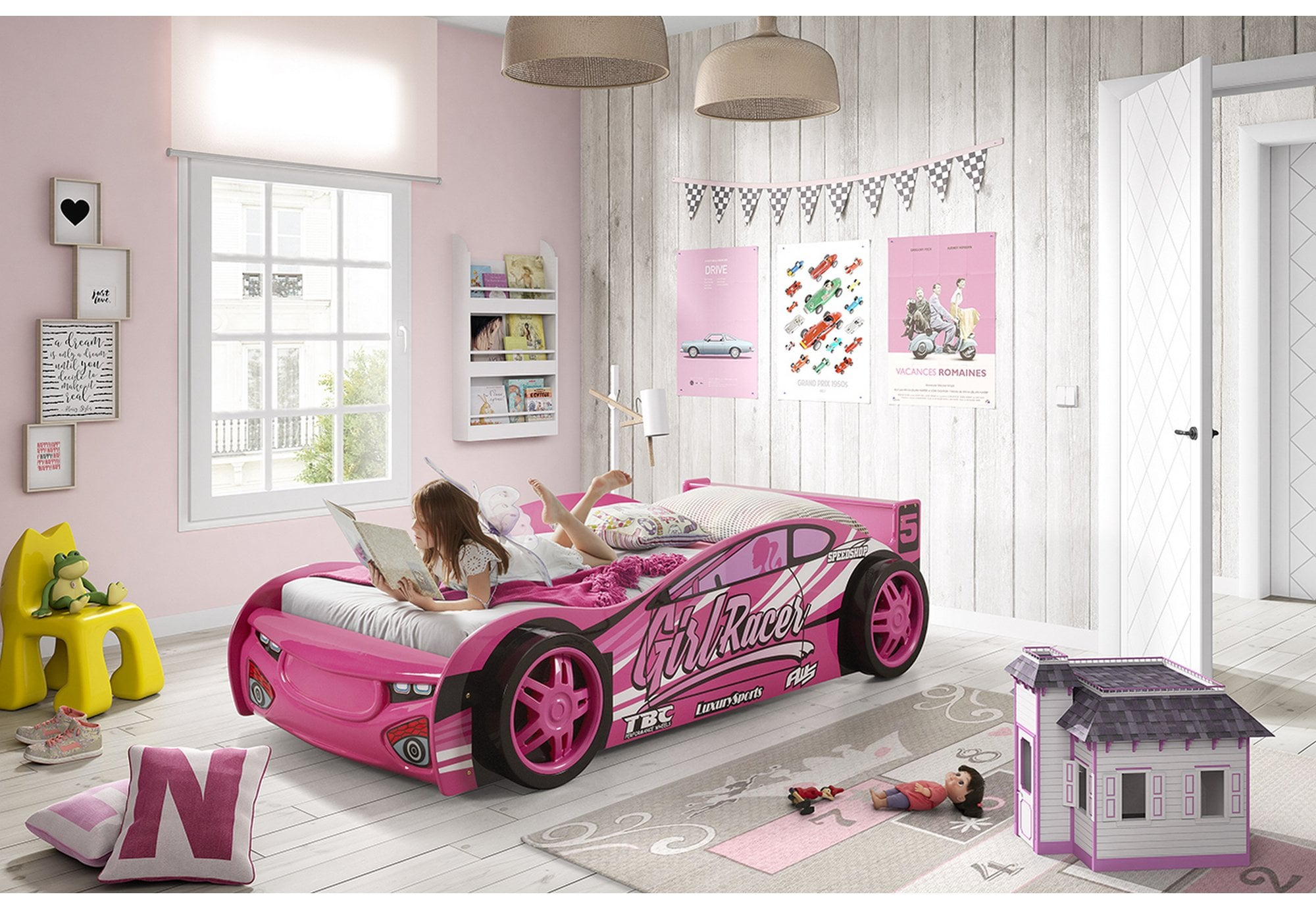 Picture of: Artisan Bed Company Artisan 3ft Single Girls Sports Car Bed Beds From Beds 4 Less Uk