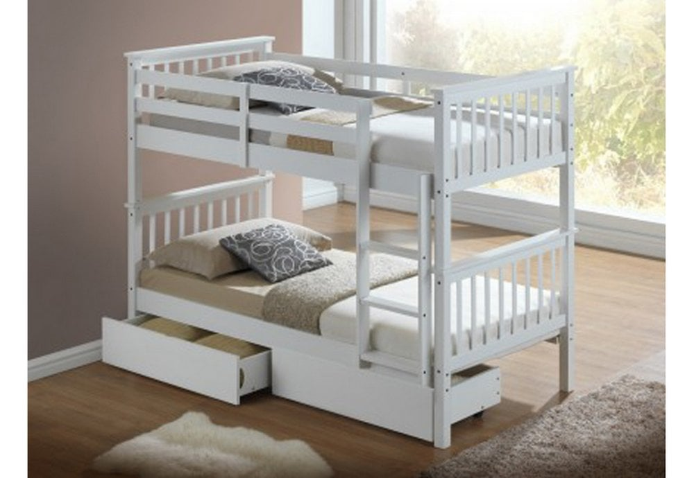 Artisan Bed Company Artisan New Beech 3ft Bunk Bed With Drawers