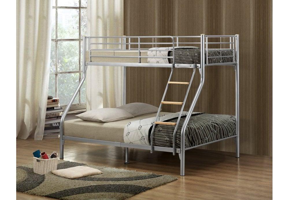 Birlea Furniture Nexus Bunk Bed Triple Sleeper Silver Bunk Beds