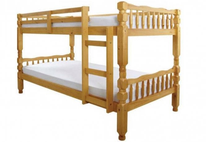 Europa Beds Europa 2ft6 X 5ft9 Short Small Single Solid Pine Bunk Bed External Size 92cm X 188cm