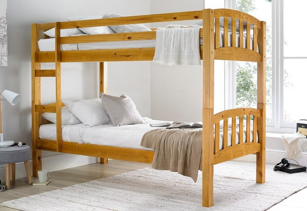 Europa America 2ft6 Small Single Pine Wooden Bunk Bed