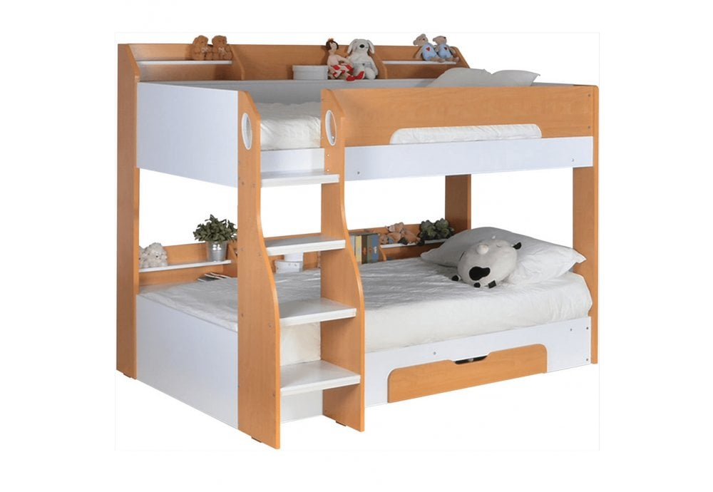 Flair Furnishings Flick Bunk Bed Maple Bunk Beds From Beds 4 Less Uk