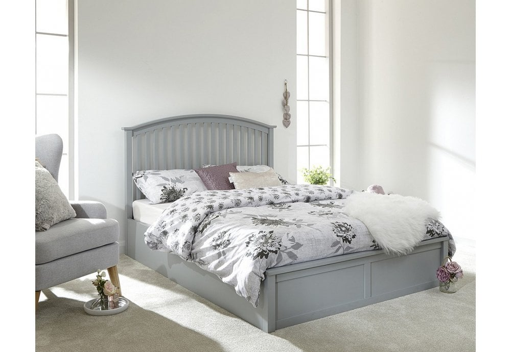 ab6bc8c3977cd GFW Furniture Madrid King Size - 150cm - Grey - Beds from Beds 4 Less UK