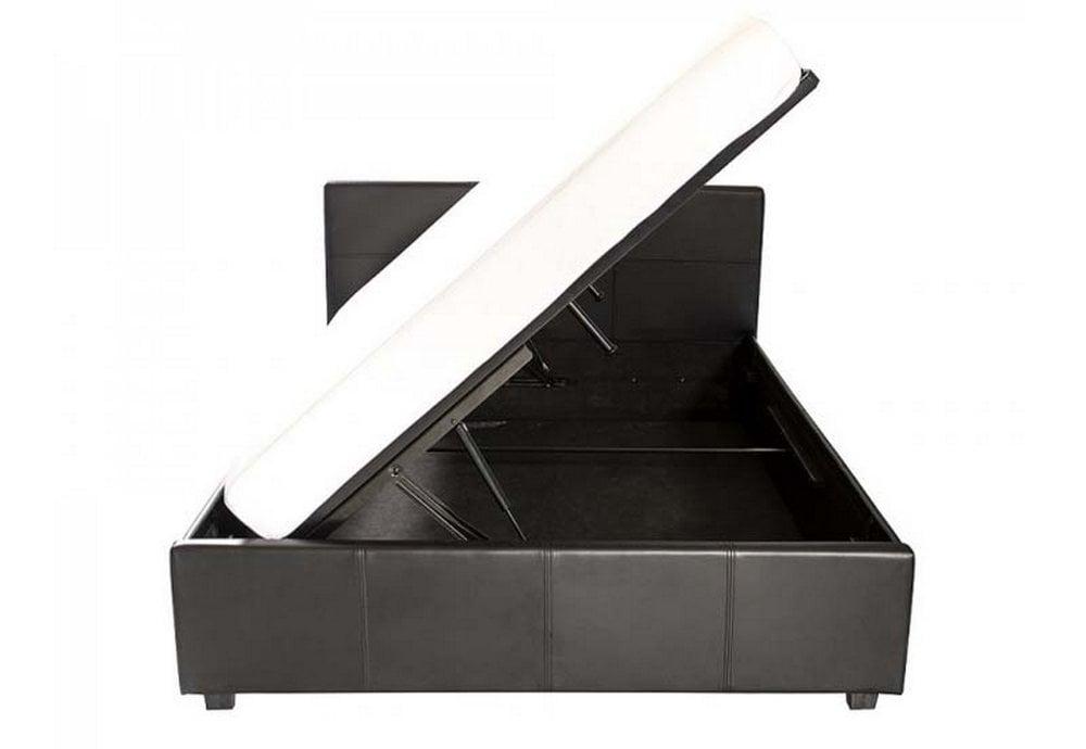 Tremendous Side Lift Ottoman Small Double 120Cm Black Machost Co Dining Chair Design Ideas Machostcouk