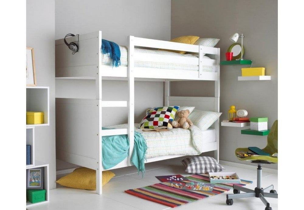 pretty nice 0aac8 ab77b Oliver White 3FT Single Bunk Bed