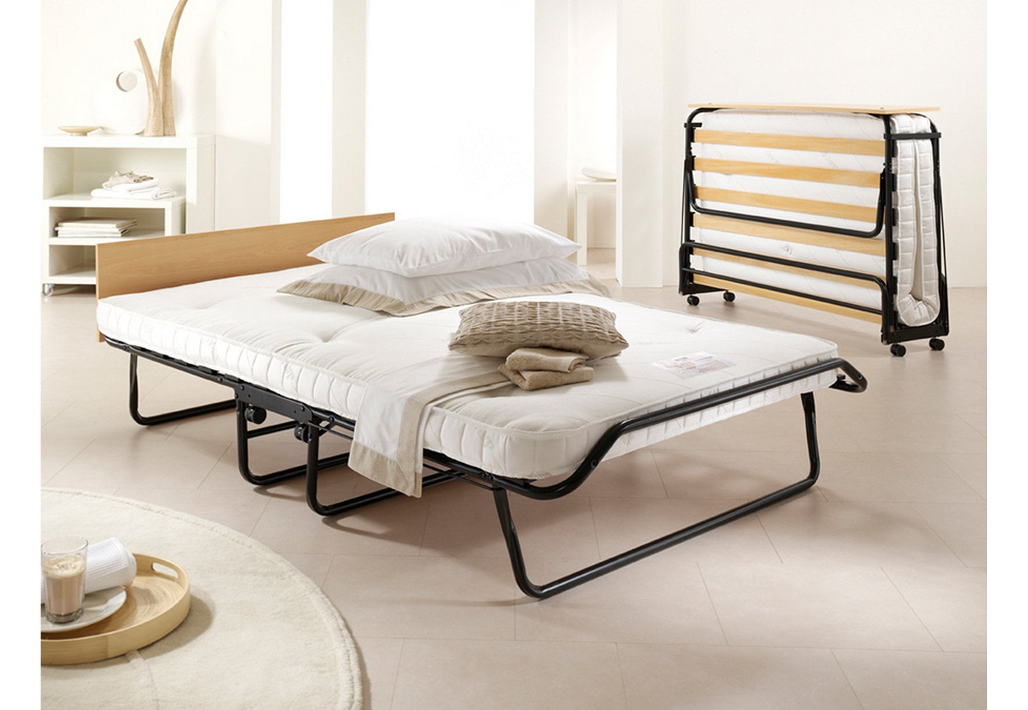 Picture of: Jay Be 4 0 Royal Pocket Sprung Small Double Folding Bed Beds From Beds 4 Less Uk