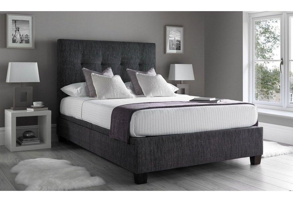 Stupendous Walkworth 5Ft Kingsize Charcoal Linen Fabric Ottoman Storage Bed Pabps2019 Chair Design Images Pabps2019Com