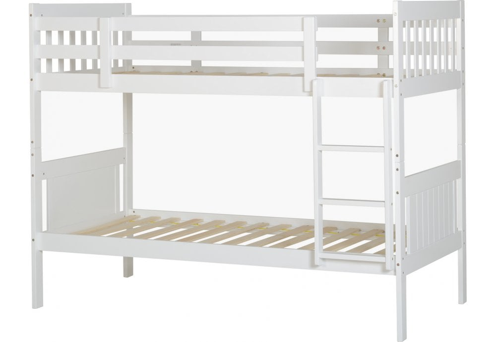 Seconique Kennedy 3 Bunk Bed In White Bunk Beds From Beds 4 Less Uk