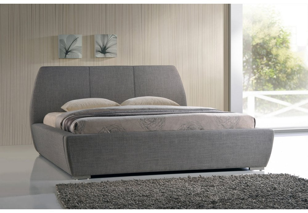 cheap for discount 63217 17f03 6FT Super King Naxos Grey Fabric Bed