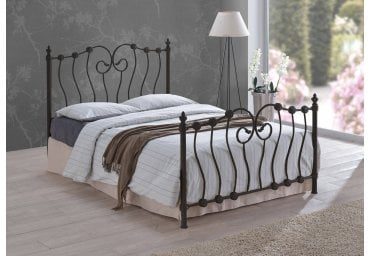 c646c1394074 Time Living Inova 4FT Small Double Black Metal Bed