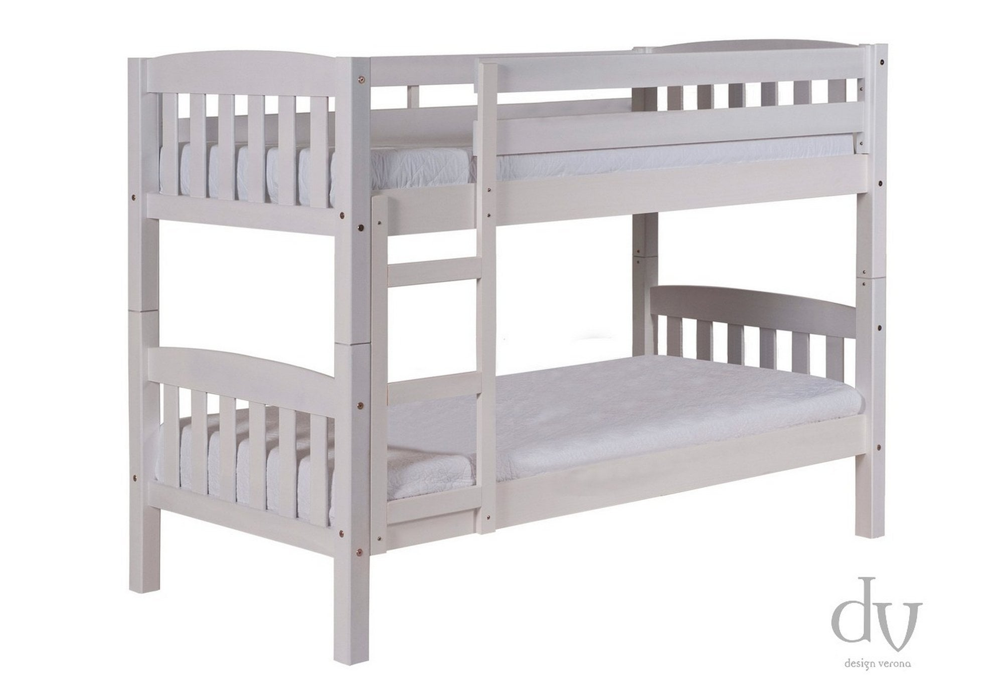 Verona America Short Bunk Bed 2ft6 Whitewash Bunk Beds From Beds 4 Less Uk