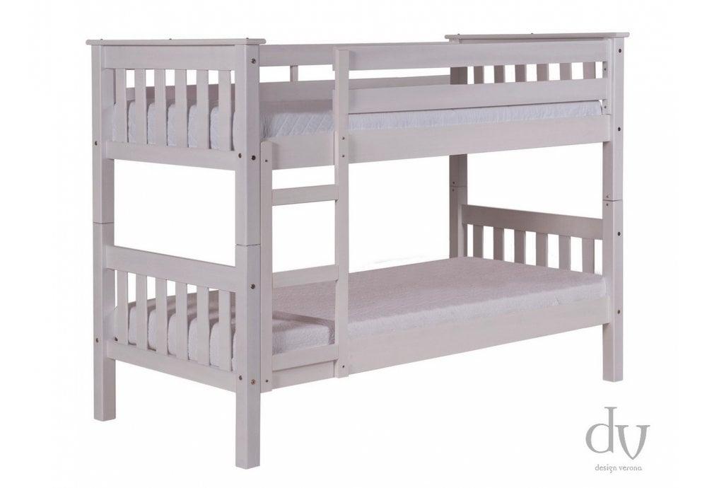 Verona Design Verona Barcelona Short Bunk Bed 3ft Whitewash Bunk