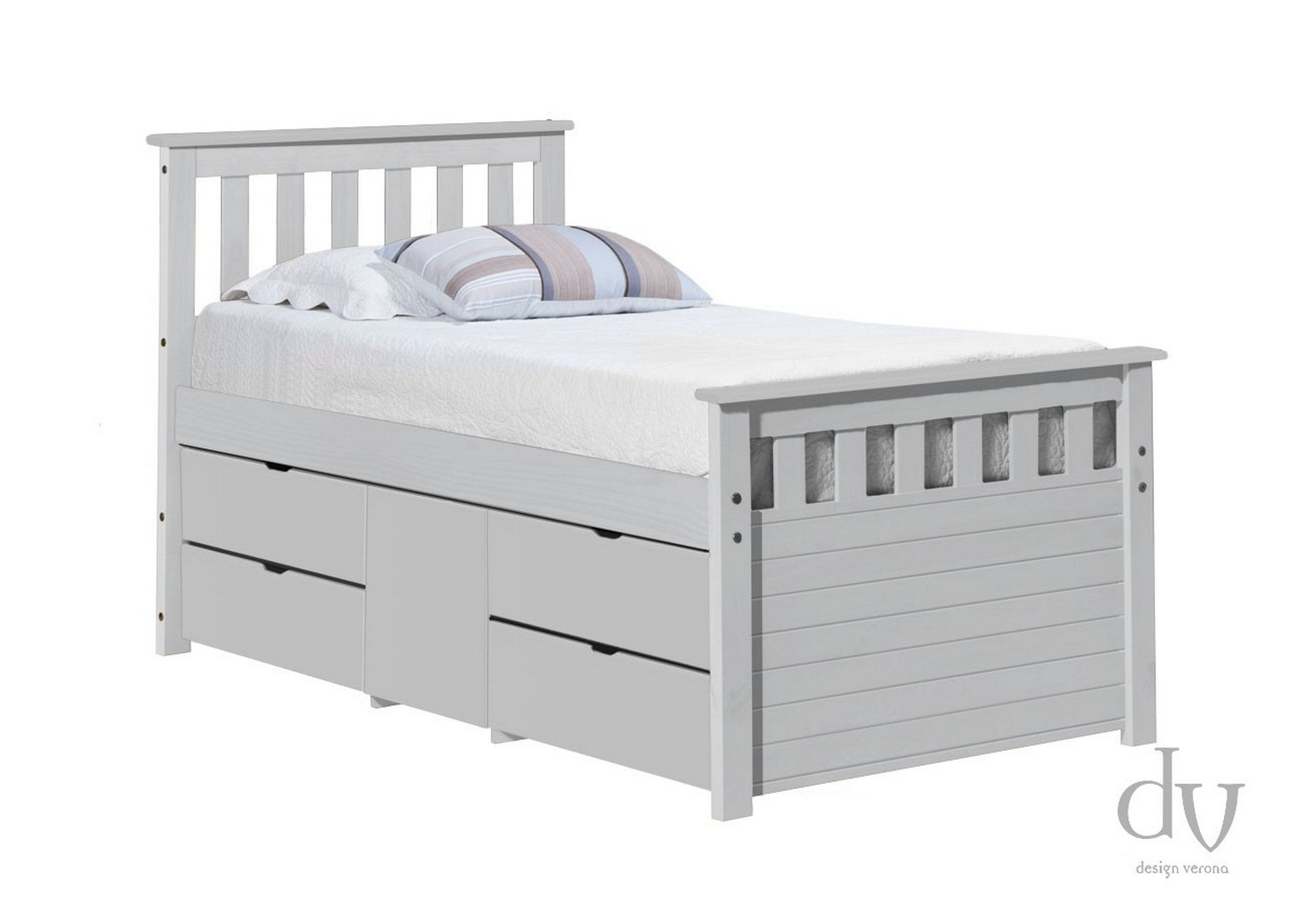 Picture of: Verona Captains Ferrara Storage Bed 3ft White And White Beds From Beds 4 Less Uk